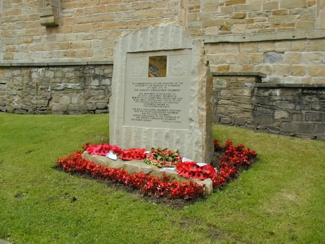 The memorial on Church Street, Accrington