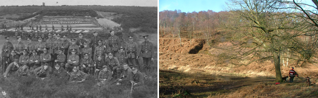 Rifle range, now and then
